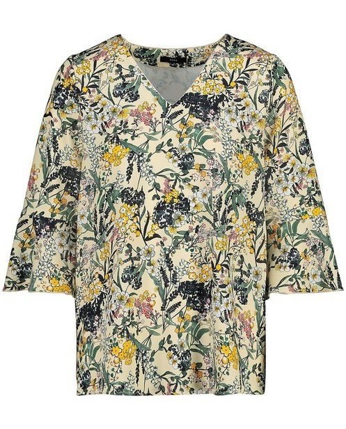 Gele blouse met bloemenprint Sora - null - Sora