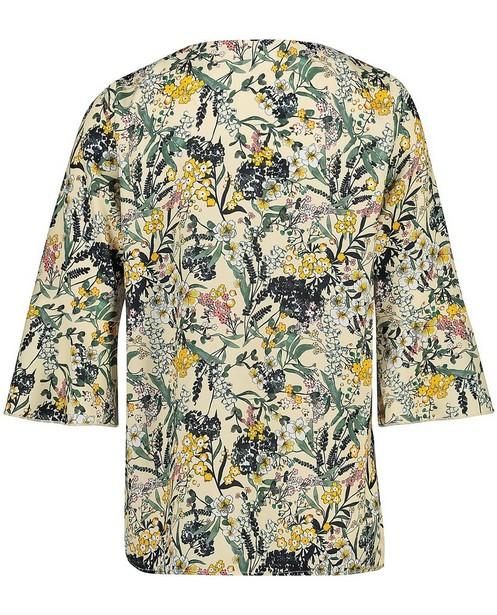 Hemden - Gele blouse met bloemenprint Sora