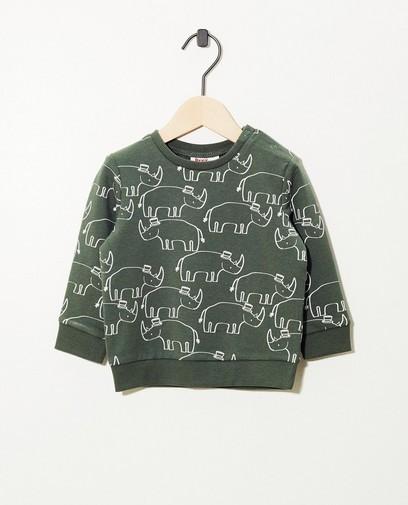 Groene sweater met print Besties
