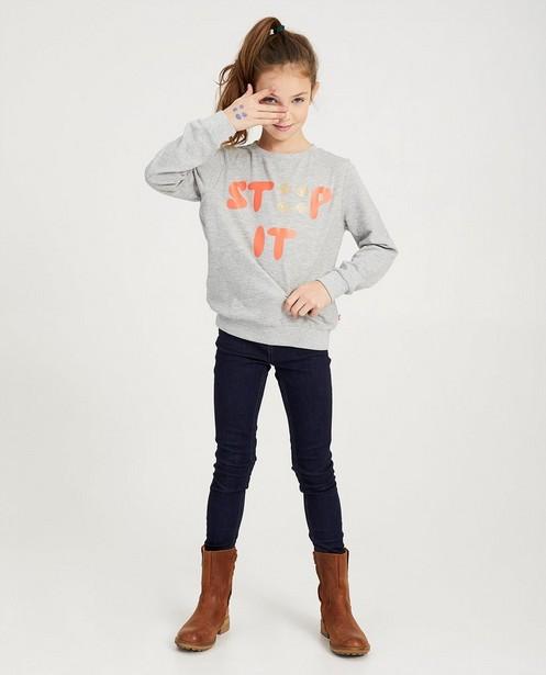 Grijze STIP IT-sweater Ketnet - gemêleerd - Ketnet