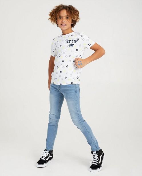 Wit STIP IT-shirt Ketnet - allover print - Ketnet