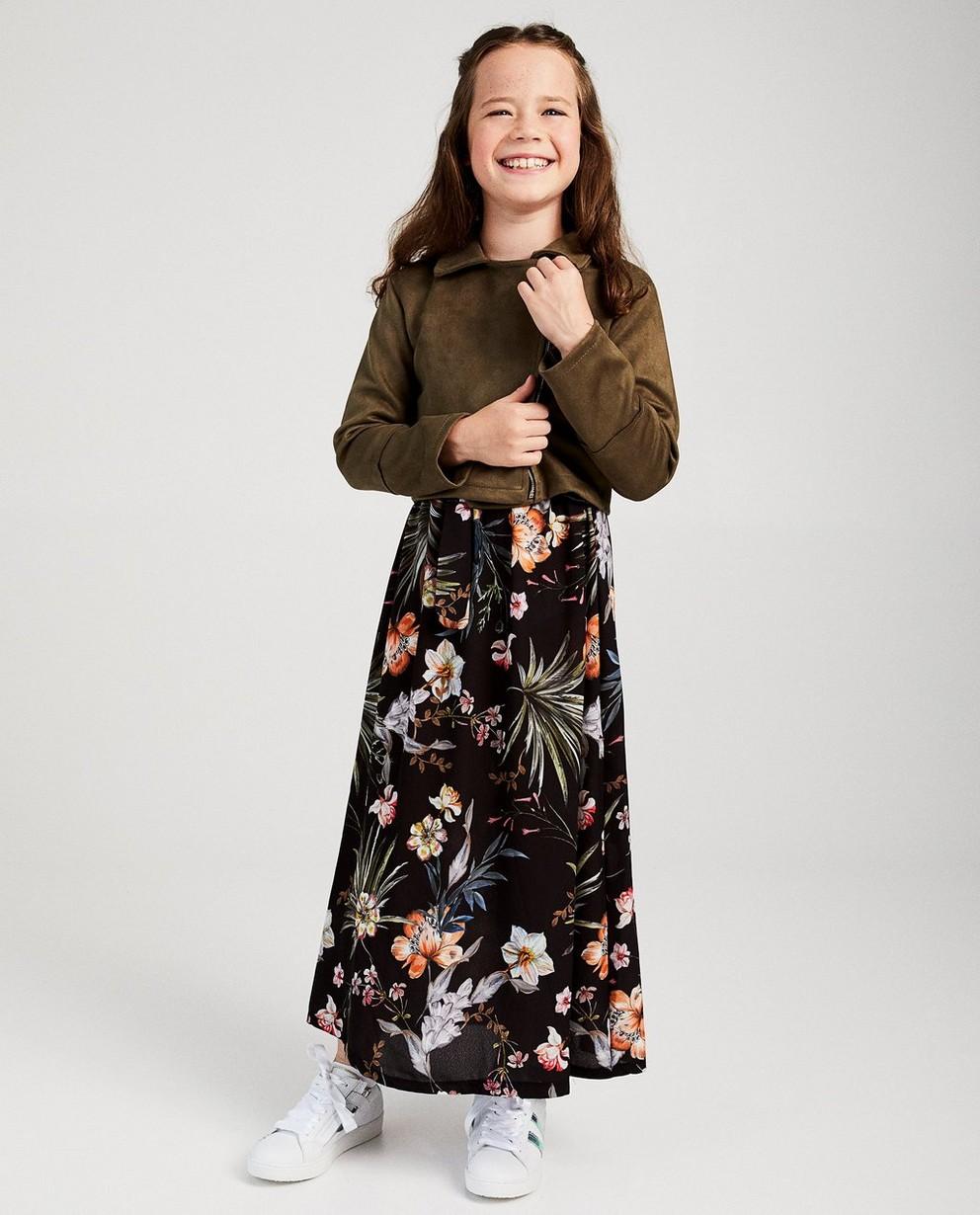 Cropped vest van suède Ella Italia - in kakigroen - ella