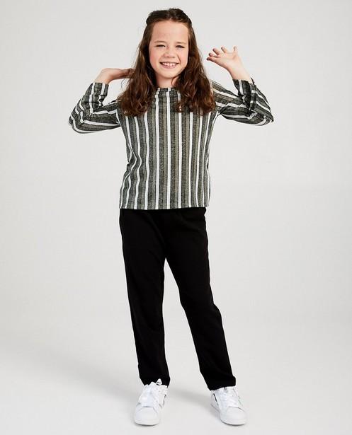 T-shirt rayé à manches longues - Ella Italia - fil métallisé - ella