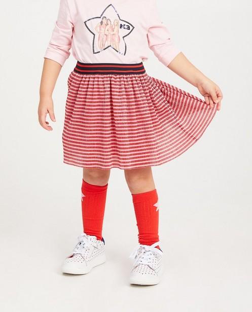 Röcke - Roze en rood gestreept rokje K3