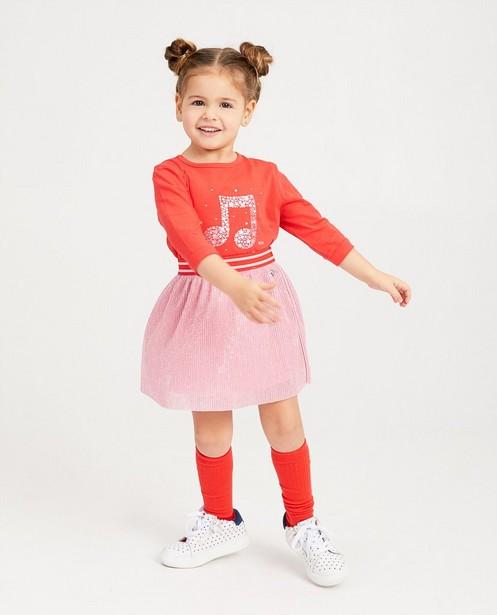 T-shirt à manches longues K3 - rouge à étoiles roses - K3
