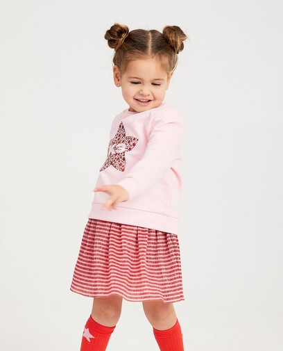 Roze sweater met sterretjes K3