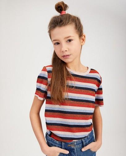Gestreept shirt met metaaldraad