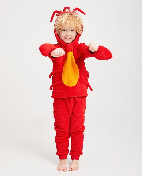Pyjama rouge en fleece - et orange - Kidz Nation