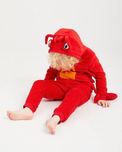 Rode pyjama van fleece