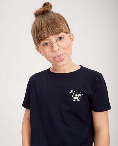 T-shirt bleu en coton bio #LikeMe