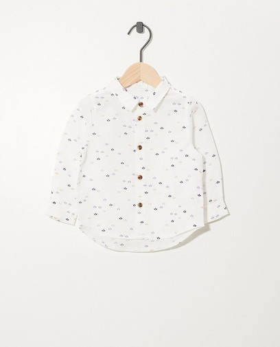 Wit hemd van linnen Feest