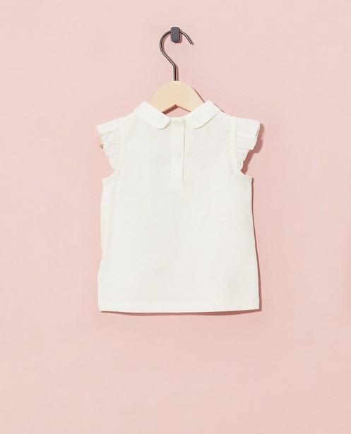 T-shirts - Witte top van biokatoen Feest