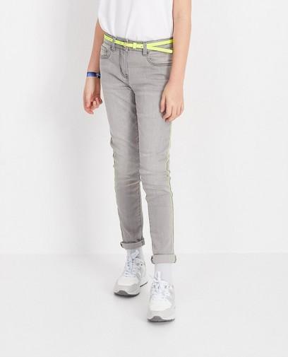 Grijze jeans met riem Nachtwacht
