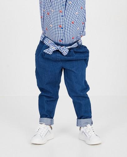 Jeans bleu avec nœud