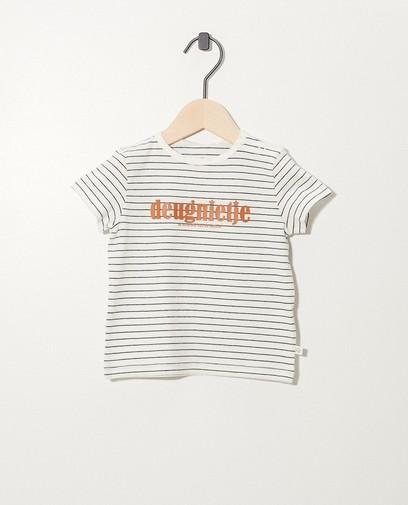 Wit T-shirt van biokatoen (NL)