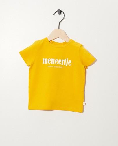 Geel T-shirt van biokatoen (NL)