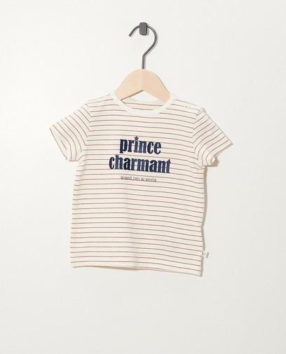 Wit T-shirt van biokatoen (FR)
