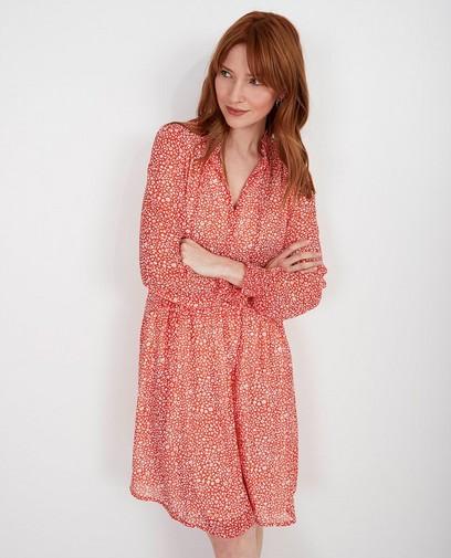 Rode jurk met print Youh!