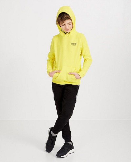 Gele hoodie met opschrift - null - Fish & Chips