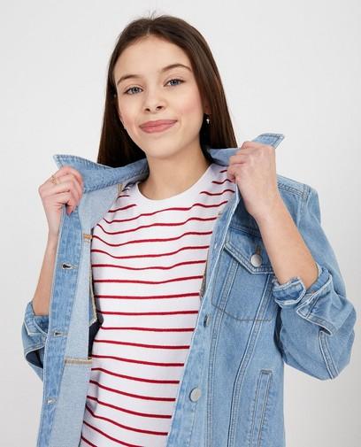 Lichtblauwe jeansjas