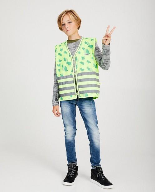Veiligheidshesje Gofluo, 7-14 jaar - en reflecterende strepen - fluo