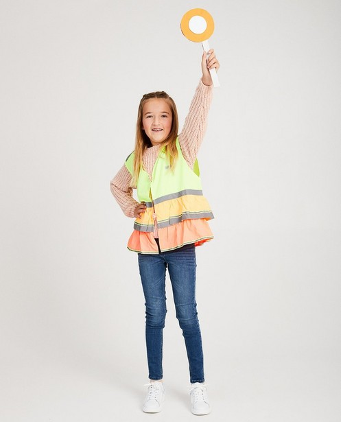 Veiligheidshesje Gofluo, 7-14 jaar - en strepen - fluo