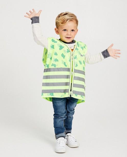 Veiligheidshesje Gofluo, 2-7 jaar - allover camouflage - fluo