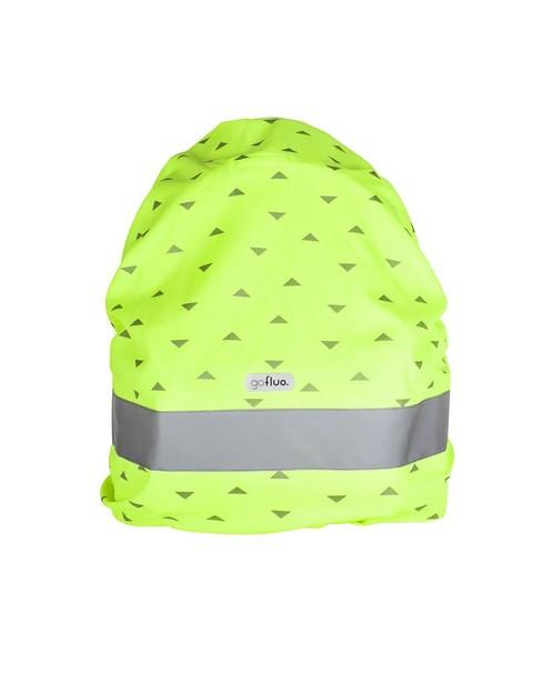 Housse jaune pour sac à dos Gofluo - imprimée, imperméable - fluo