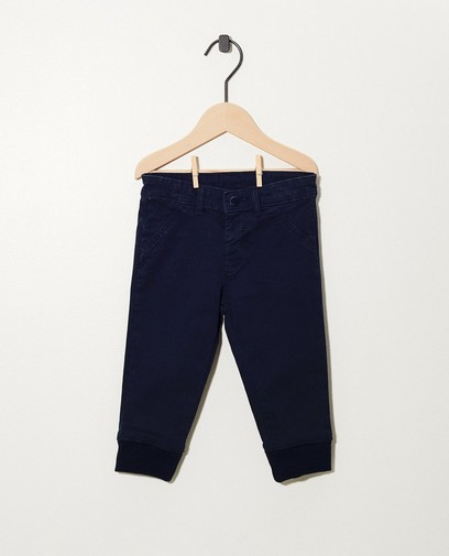 Blauwe broek met ribboord