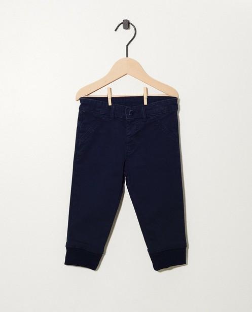 Blauwe broek met ribboord - en verstelbare taille - cudd