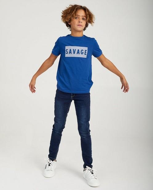 Blaues Shirt mit Print Nachtwacht - und Aufschrift - Nachtwacht
