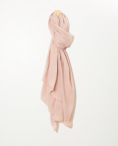 Roze sjaal Pieces - Metaaldraad - Pieces