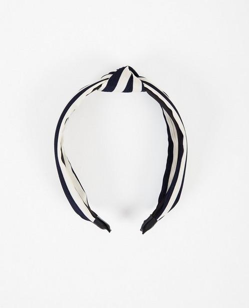 Gestreepte haarband Pieces - Blauw wit gestreept - Pieces