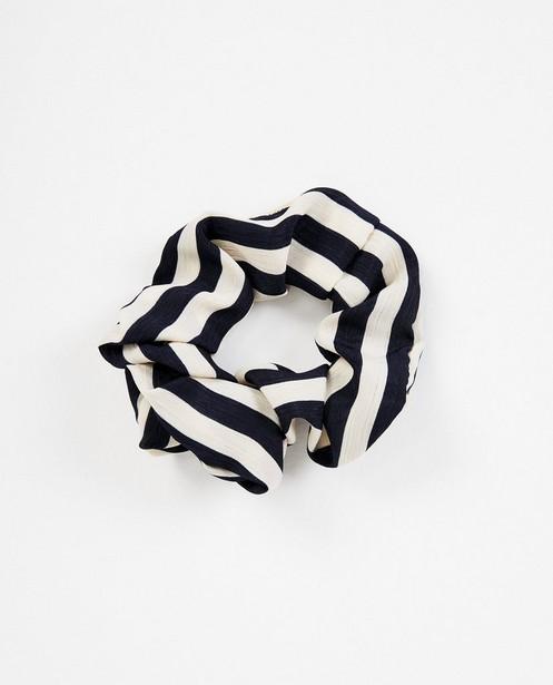 Gestreepte scrunchie Pieces - Haarelastiek - Pieces