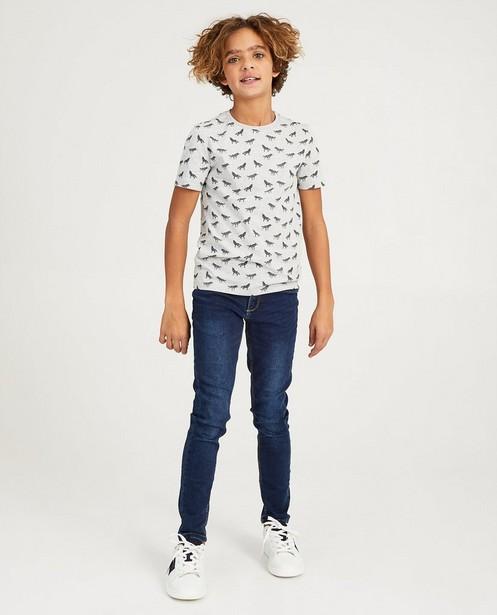 Grijs T-shirt met print Nachtwacht - wolven - Nachtwacht