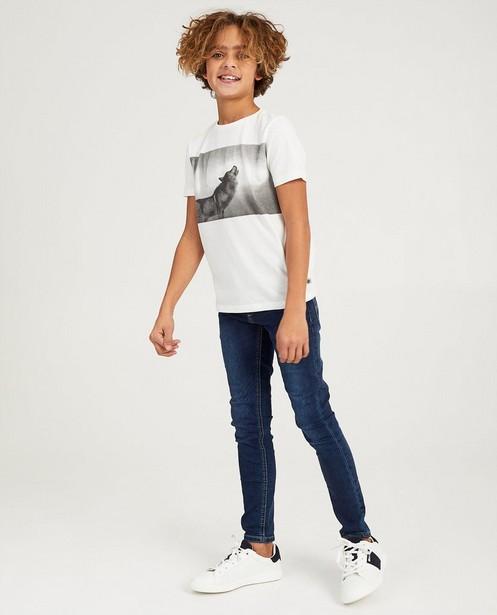 Wit T-shirt met print Nachtwacht - wolf - Nachtwacht