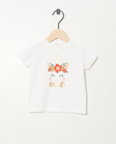 Weißes Geburtstags-Shirt mit Print