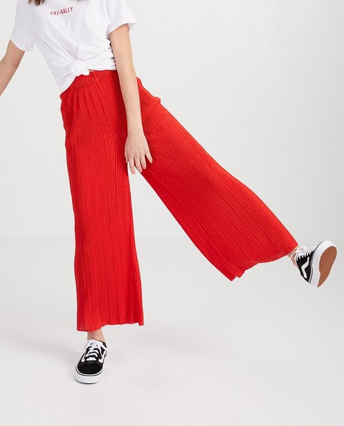 Broeken - Rode plissé-broek