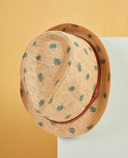 Beige hoed met print Communie