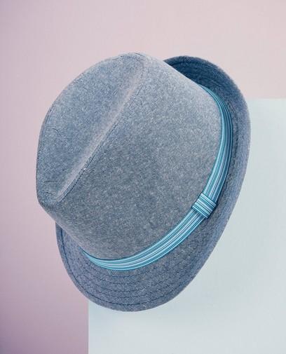 Blauwe hoed met band Communie