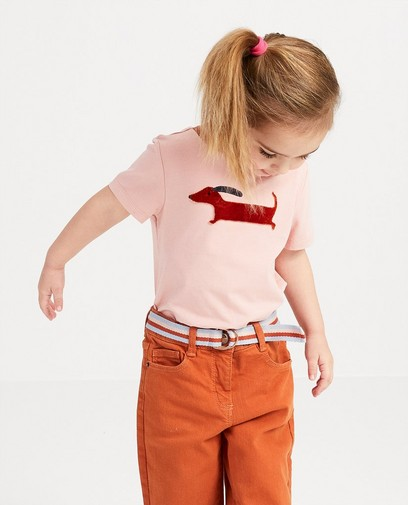 Roze shirt met print Hampton Bays