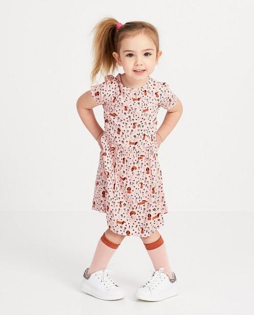 Rosa Kleid mit Print Hampton Bays - Blümchen und Hündchen - Hampton Bays