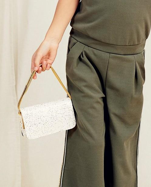 Schoudertasje met glitter Communie - in wit en goud - Milla Star