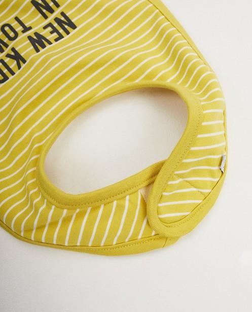Babyspulletjes - Groen slabbetje met opschrift