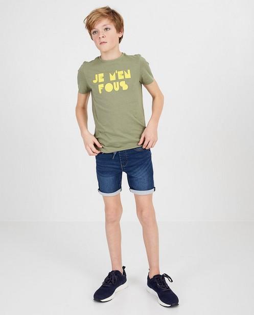 Groen shirt met opschrift BESTies - null - Besties