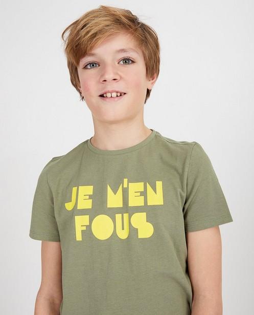 T-shirts - Groen shirt met opschrift BESTies