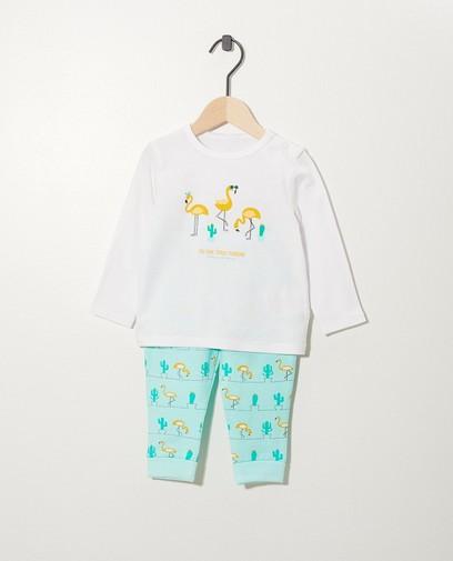 Pyjama à imprimé, coton bio