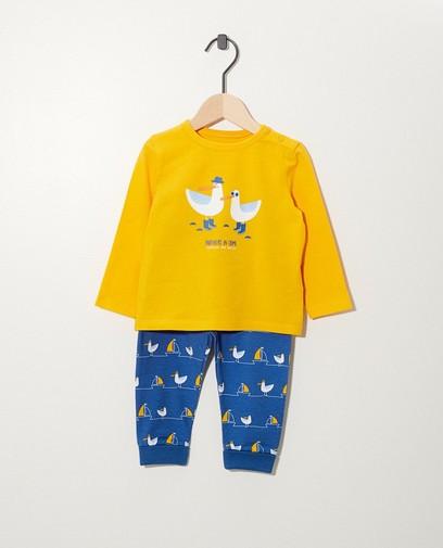 Pyjama met print van biokatoen