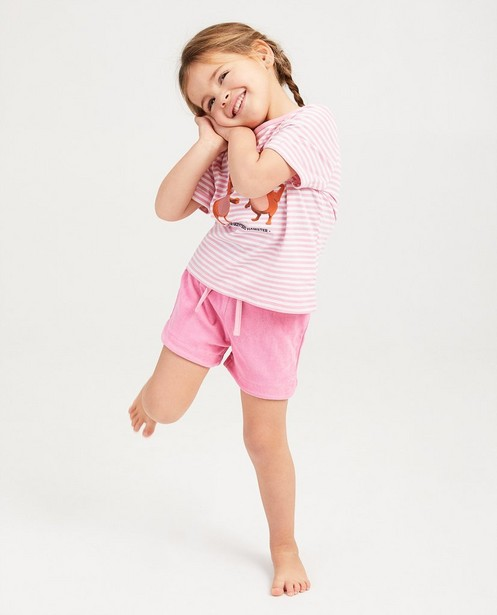 Gele pyjama De Fabeltjeskrant - met strepen - fabe