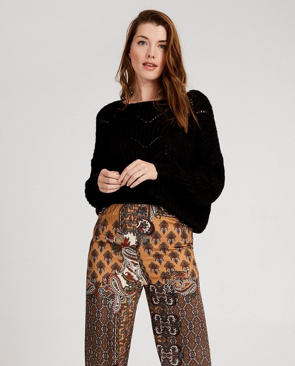 Pulls - black - Pull à tricot ajouré Ella Italia